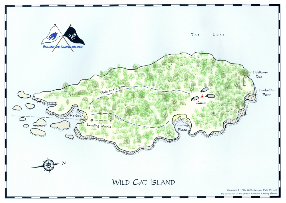 Maps Of The Lake Wild Cat Island And Secret Water - Marks lake maps